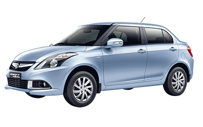 Economy or Subcompact rental car. Blue Suzuki Swift Dzire.