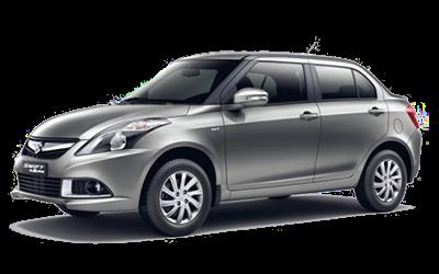 Silver Suzuki Swift Dzire