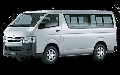 Silver Toyota HiAce