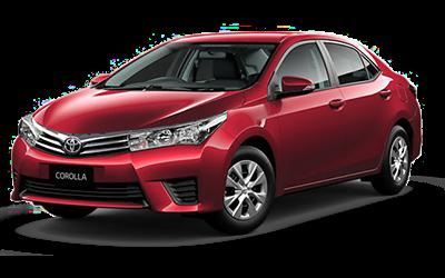 Red Toyota Corolla