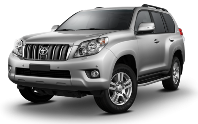 Silver Toyota Land Cruiser Prado